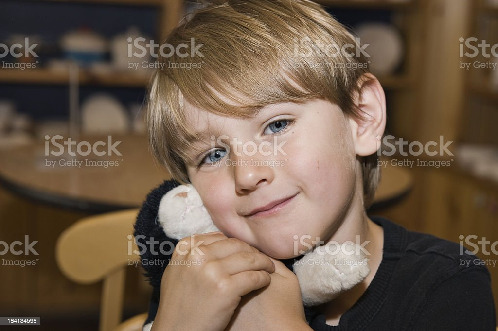 Young Boy with Toy royalty-free stock photo