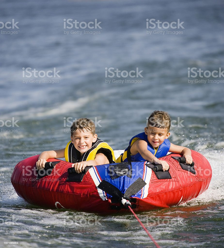 Young Boys Boating royalty-free stock photo
