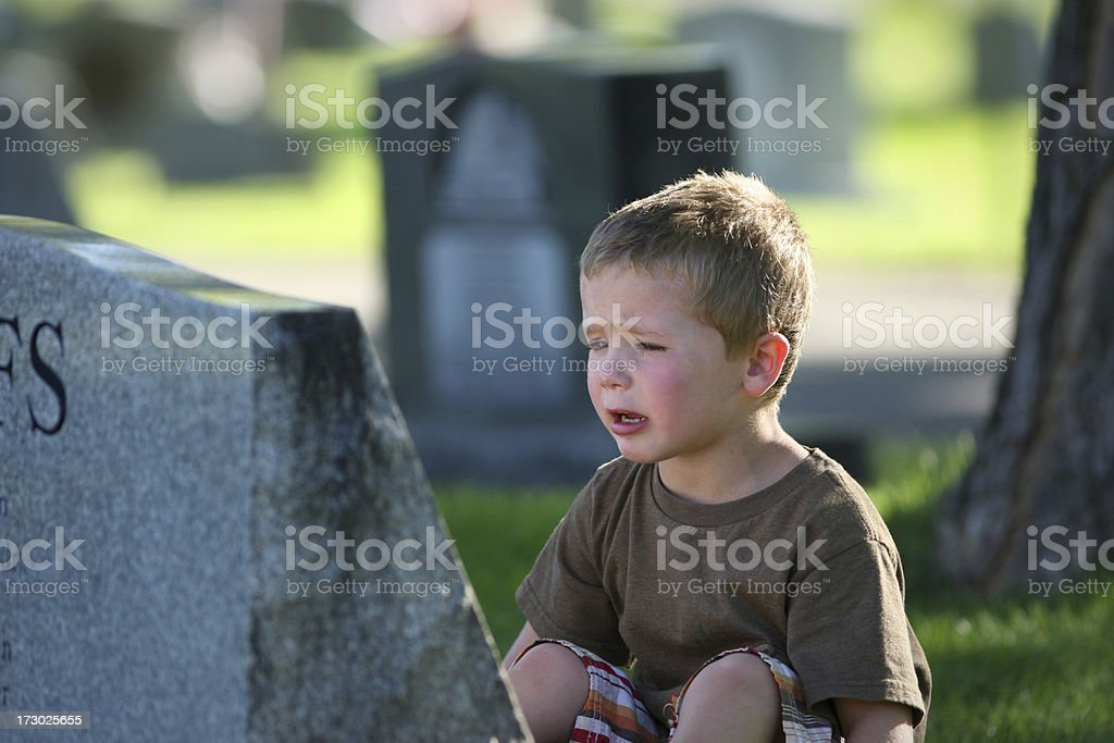 Young boy's Grief royalty-free stock photo