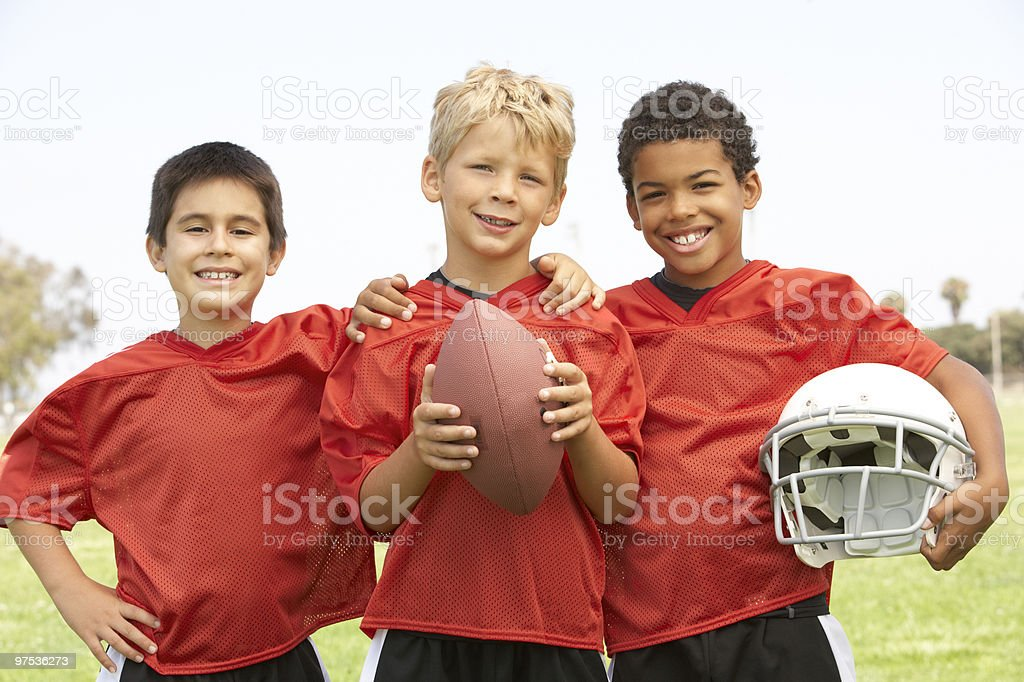 Young Boys In American Football Team royalty-free stock photo