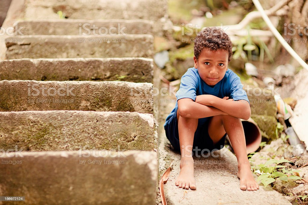 Young Brazilian Boy stock photo