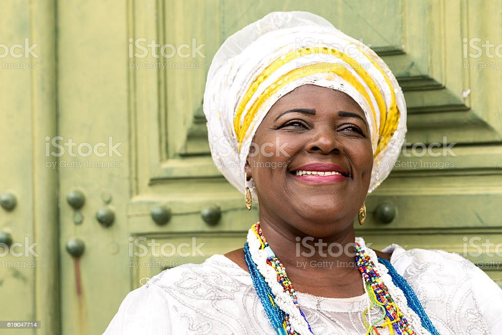 Young Brazilian woman of African descent, Bahia, Brazil stock photo