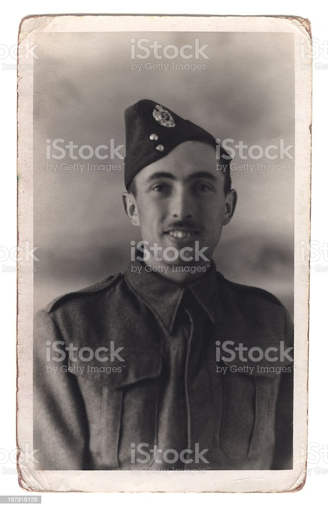 Young British soldier stock photo