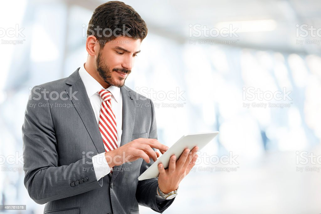 Young broker portrait stock photo