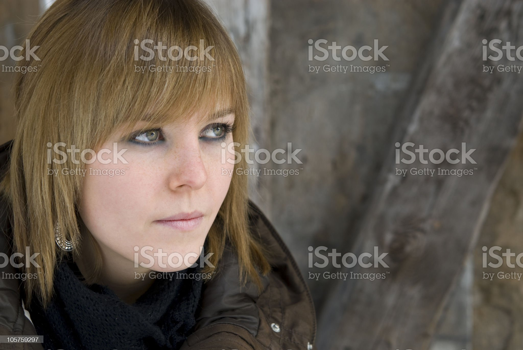Young brown hair woman portrait royalty-free stock photo