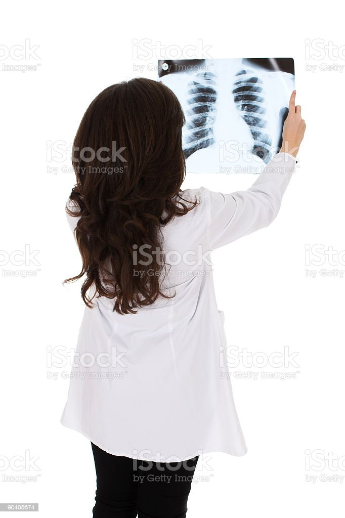 Young brunette female doctor royalty-free stock photo