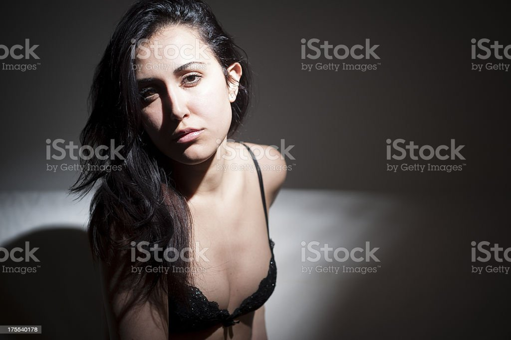 Young brunette woman royalty-free stock photo