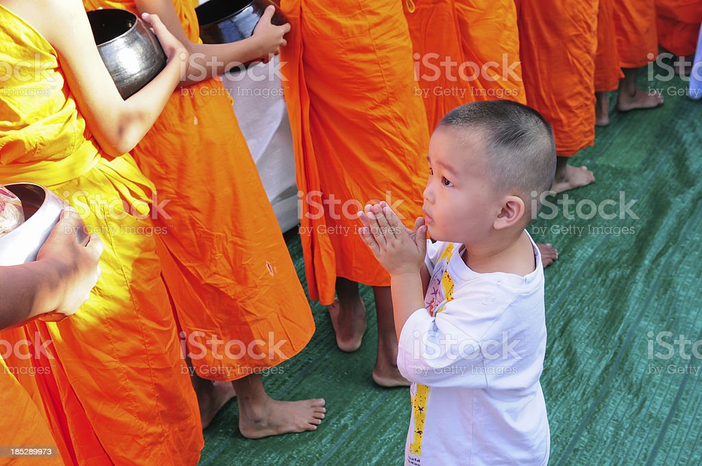 Young buddhism boy royalty-free stock photo