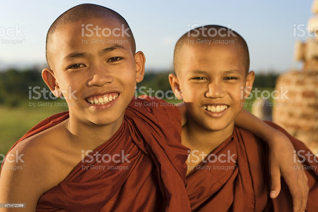 Young Buddhist monks royalty-free stock photo