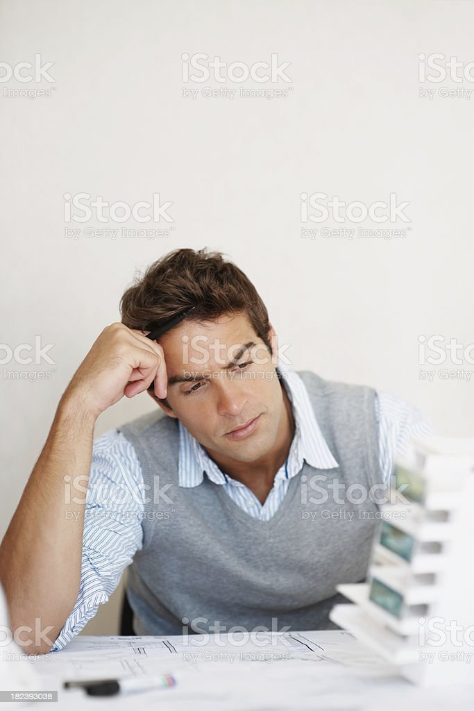 Young building architect working on a project royalty-free stock photo