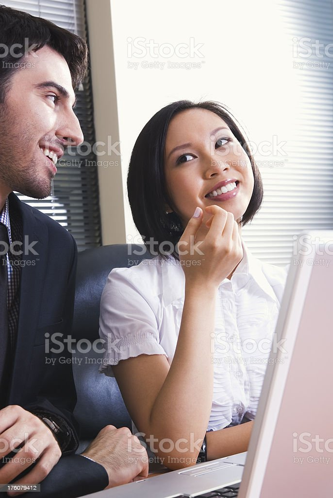 Young business associates chatting - I royalty-free stock photo