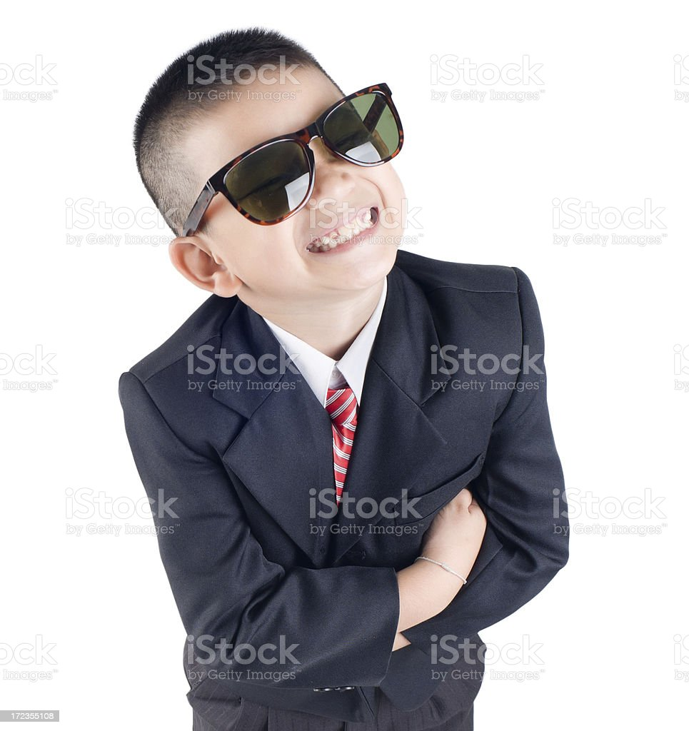 Young business boy royalty-free stock photo