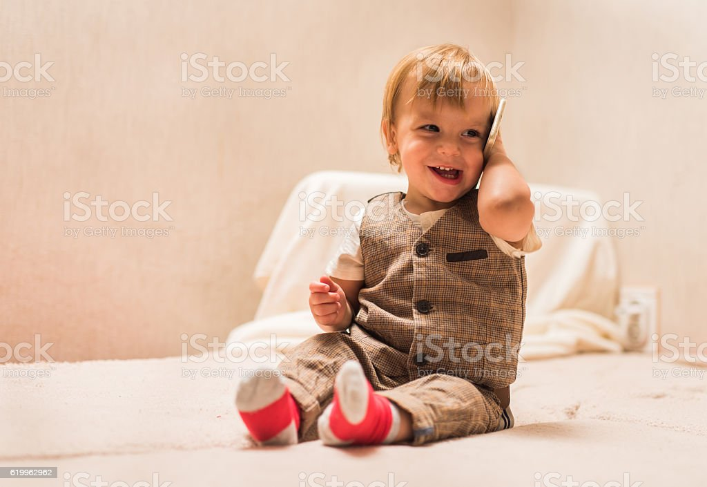 Young business boy stock photo