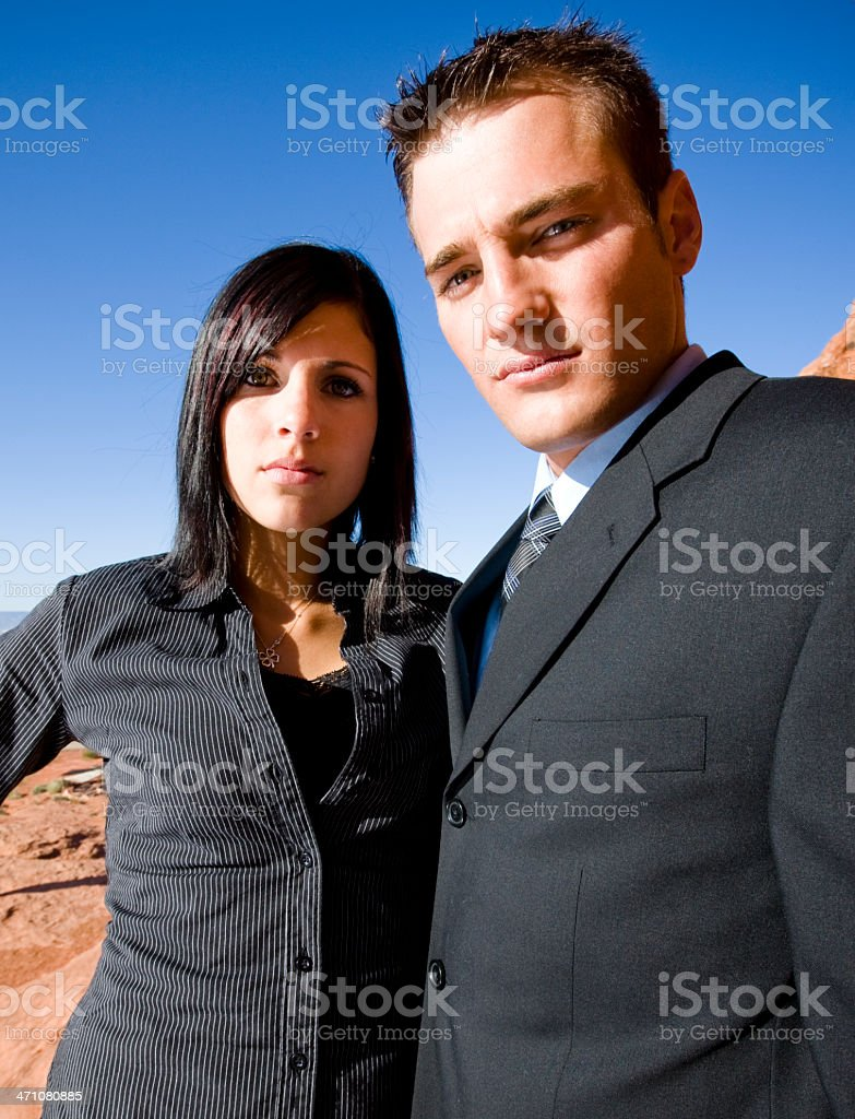 Young Business Colleagues royalty-free stock photo