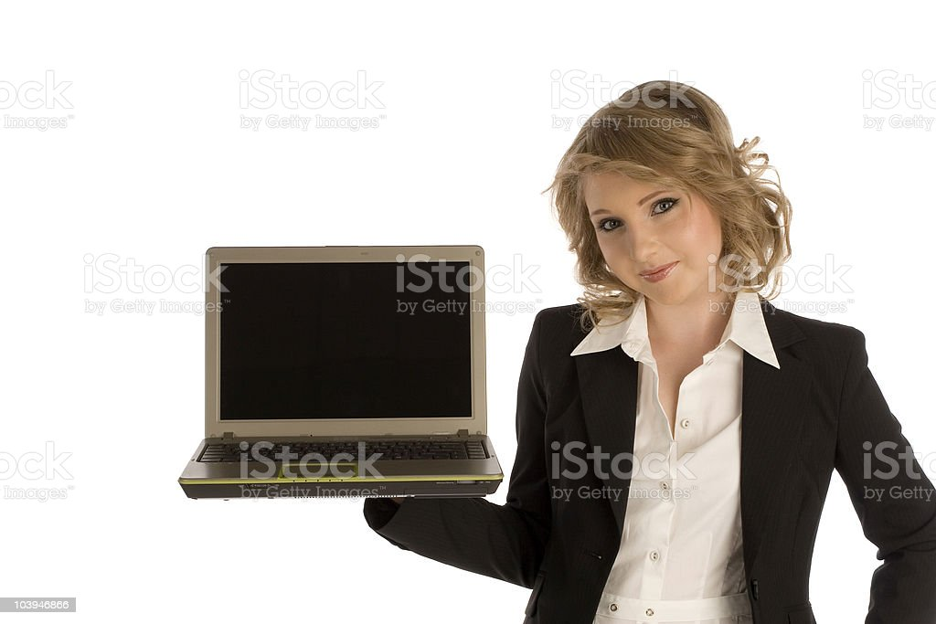 Young business girl royalty-free stock photo