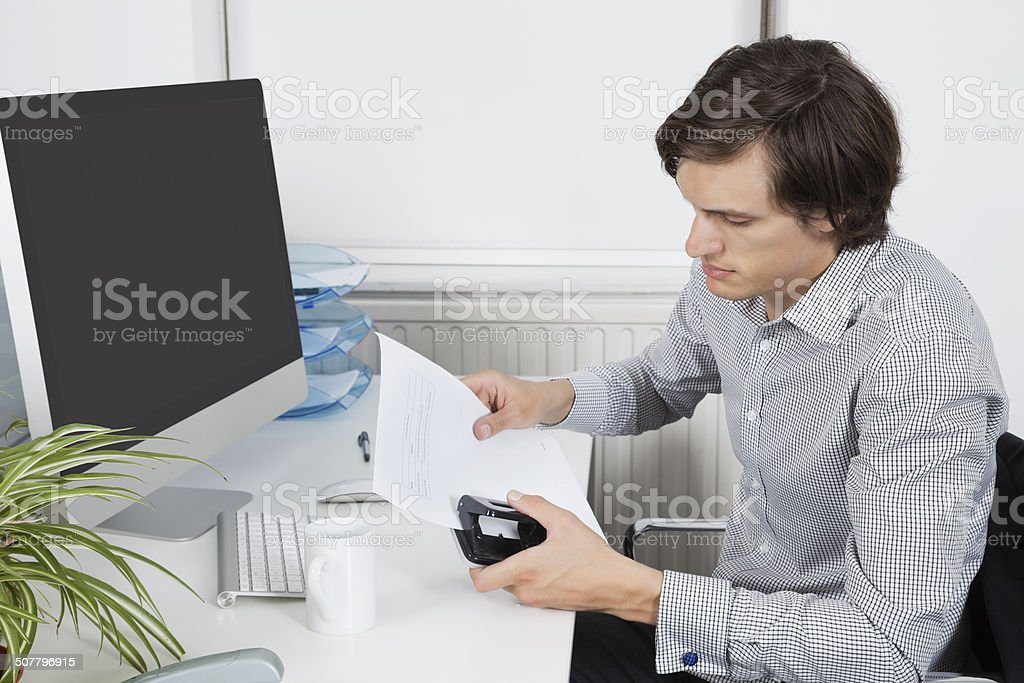 Young Business in the office stock photo