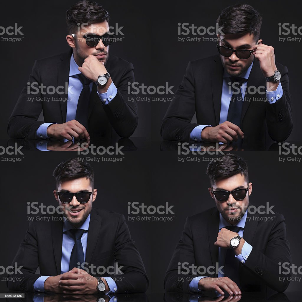 young business man collage royalty-free stock photo