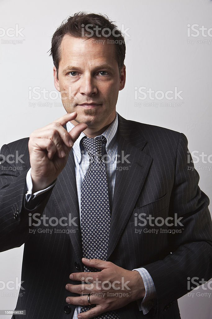 Young business man in shirt and suit stock photo