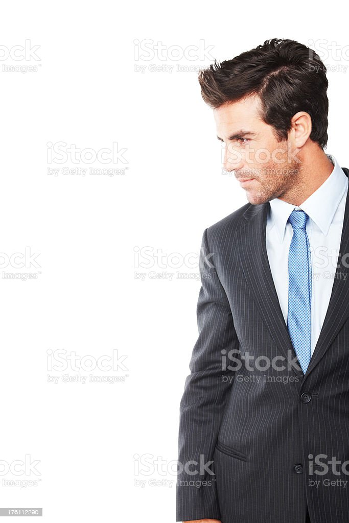 Young business man isolated over white royalty-free stock photo