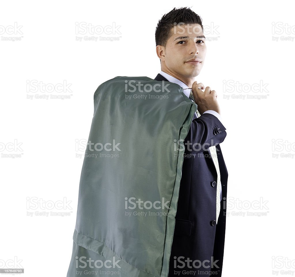 Young Business Man - Laundry stock photo