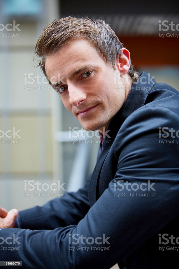 Young business man looking confidently royalty-free stock photo