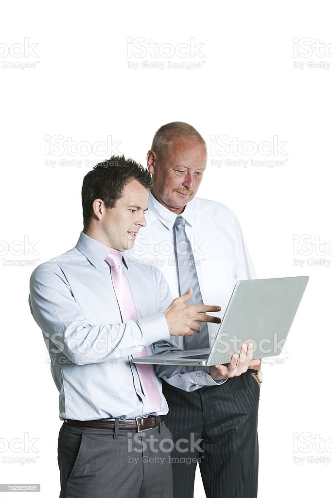 Young business man showing results royalty-free stock photo
