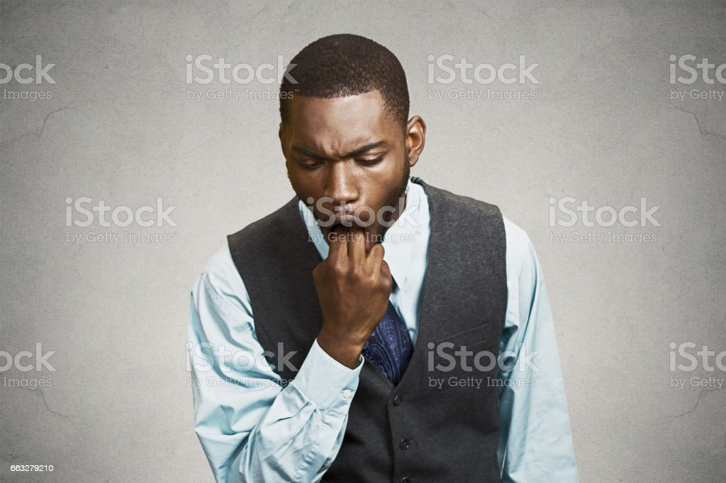 young business man sticking finger in mouth about to throw up show disgust displeasure stock photo