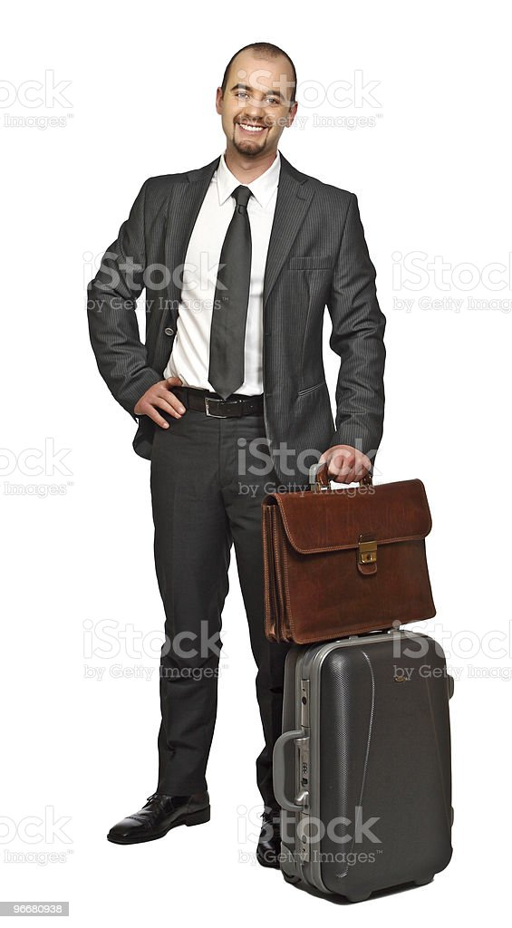 young business man travel royalty-free stock photo