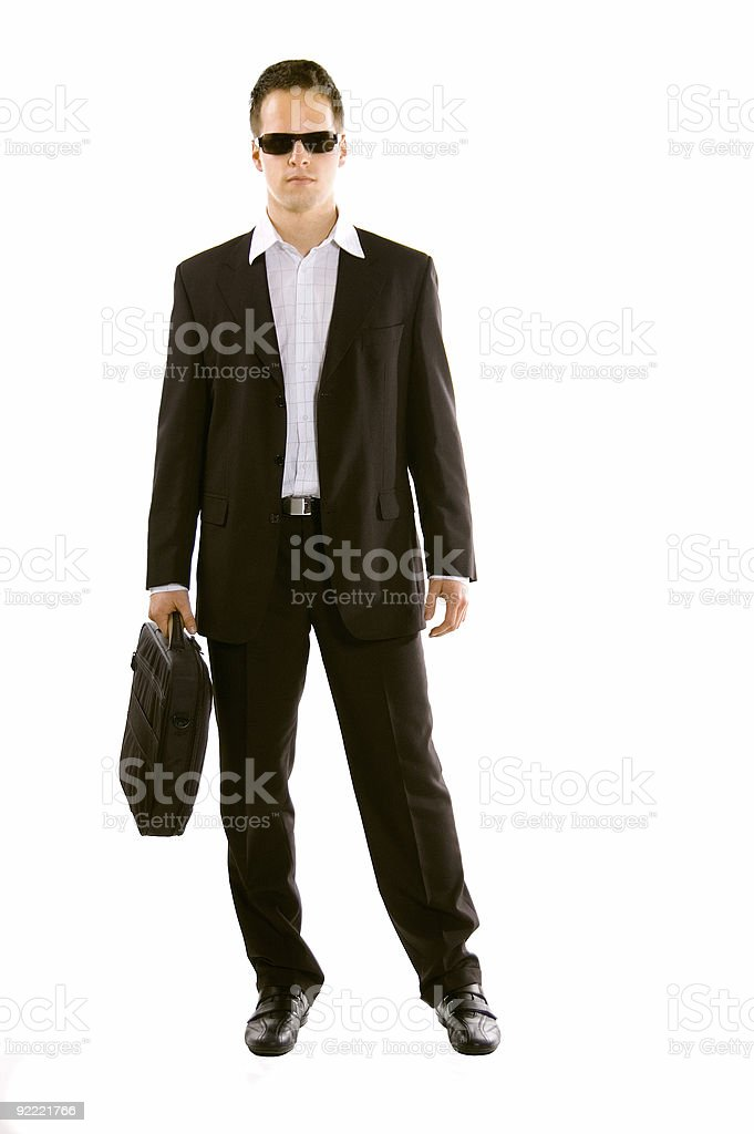 Young Business Man With Laptop royalty-free stock photo