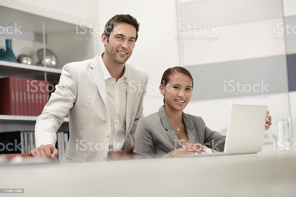 Young business people working together royalty-free stock photo