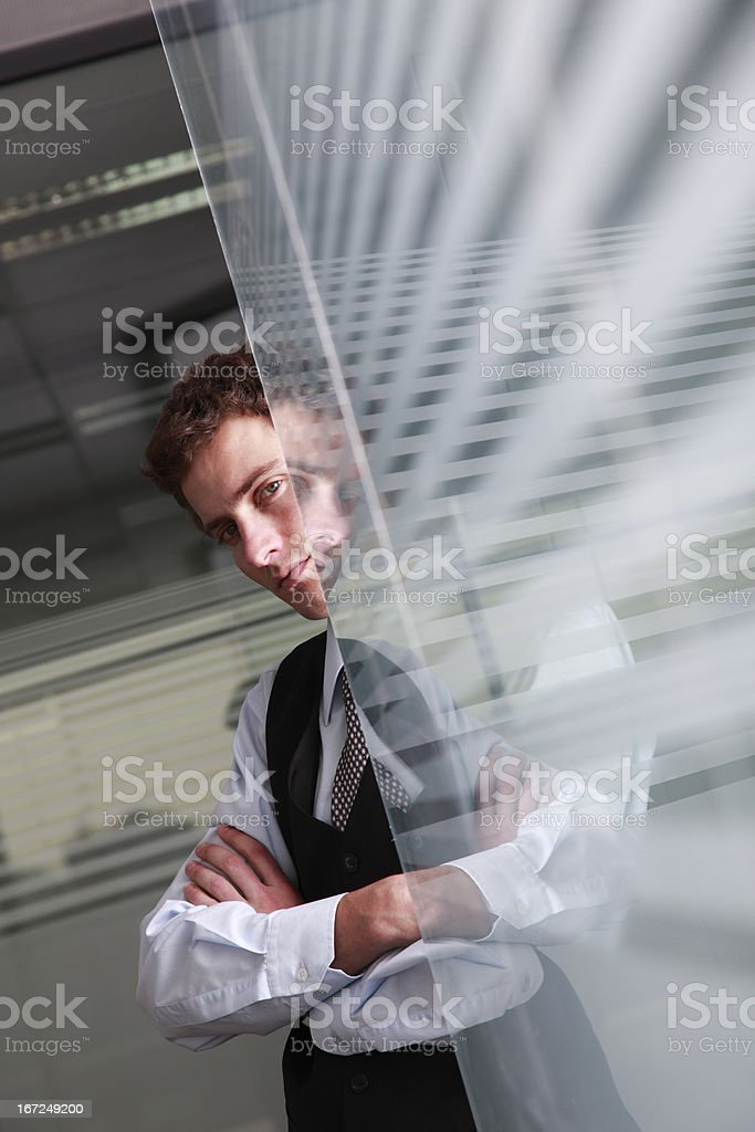 Young business reflection royalty-free stock photo