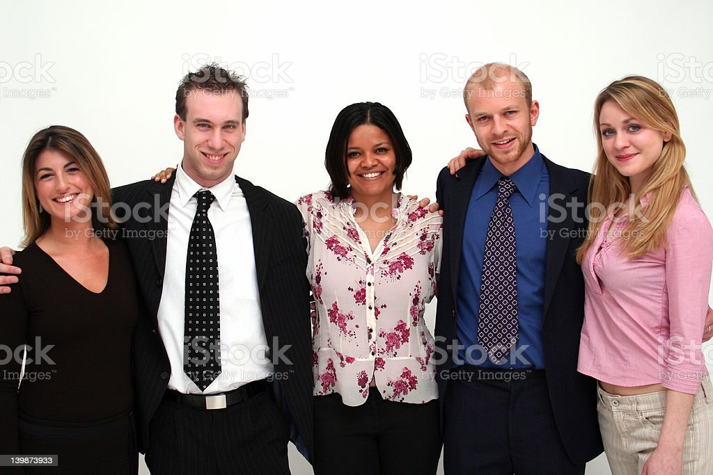 Young Business Team - casual royalty-free stock photo