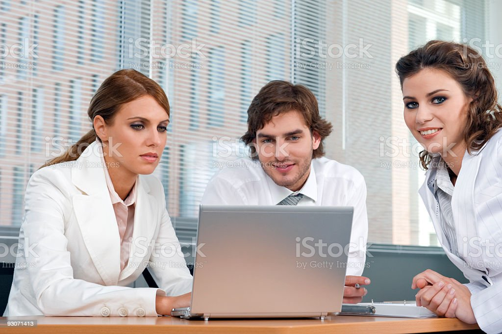 Young business team royalty-free stock photo