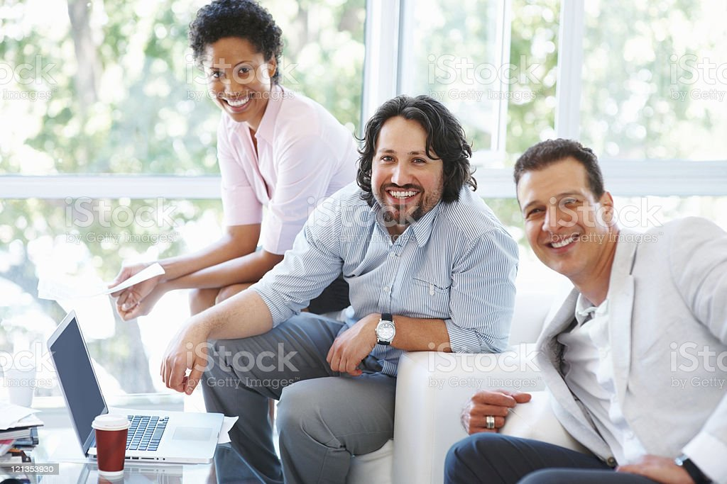 Young business woman and team royalty-free stock photo