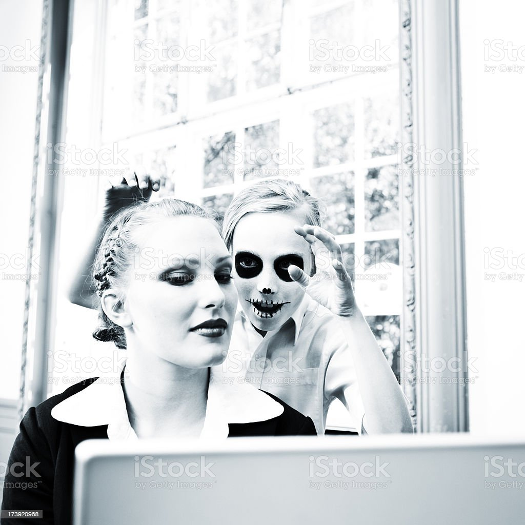 young business woman in trouble royalty-free stock photo