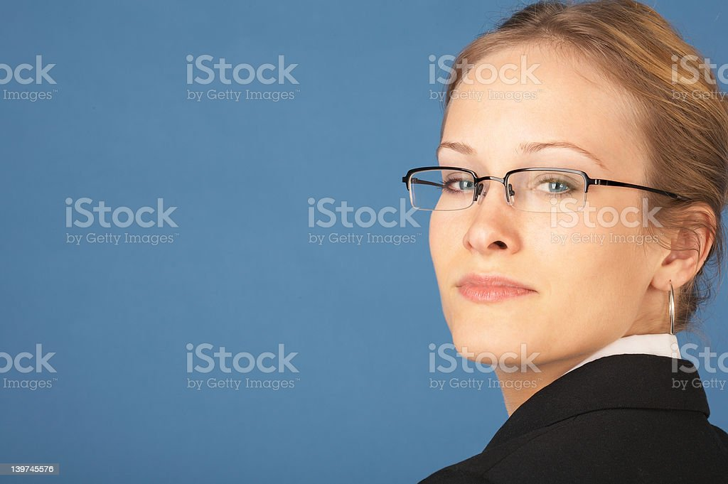 Young business woman looking confidently stock photo