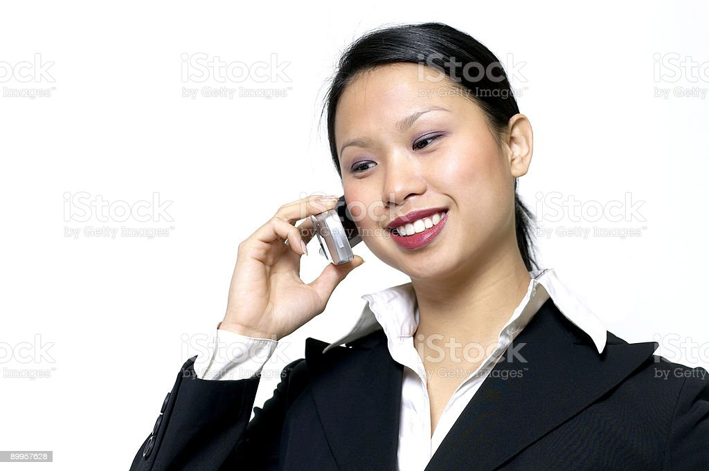 young business woman on phone royalty-free stock photo