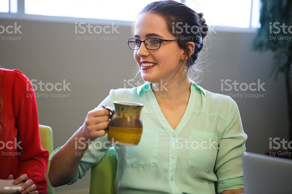 Young Business Woman or Student stock photo