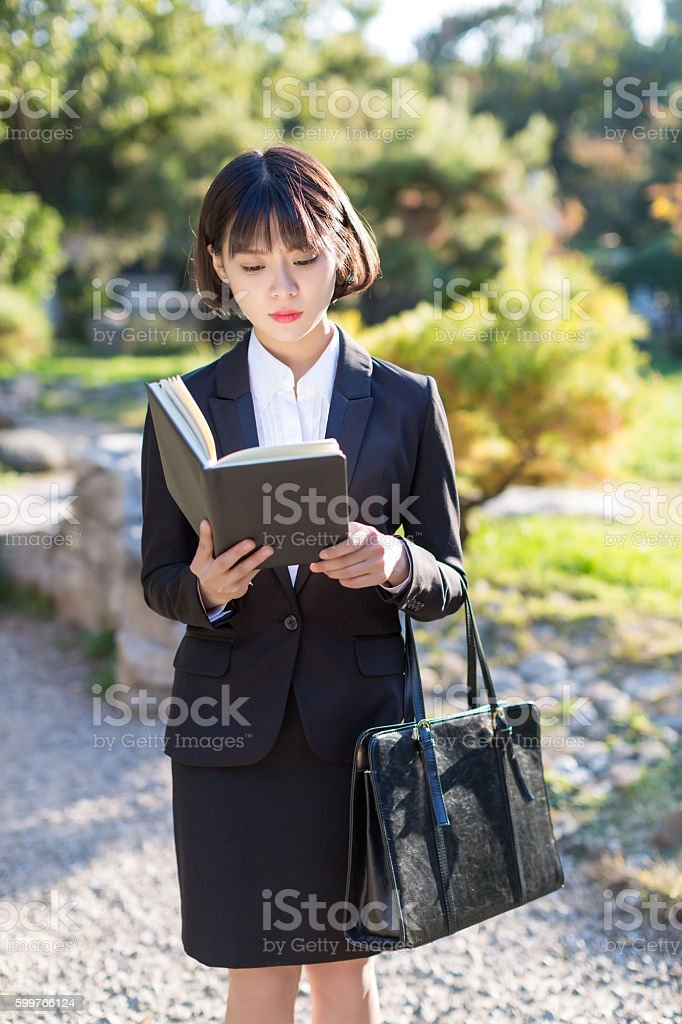 young business woman professional white-collar stock photo