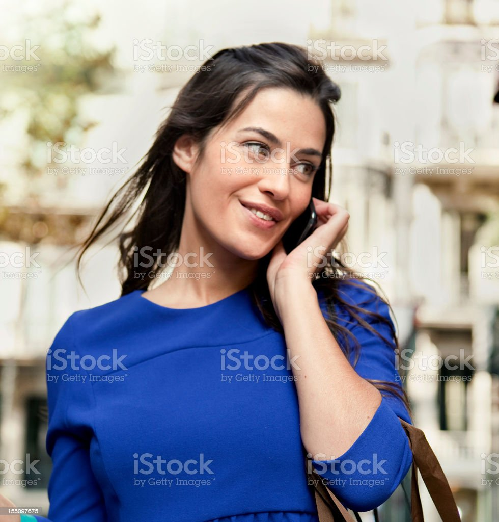 Young Business Woman Talking on Cellphone royalty-free stock photo