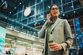 young business woman talking on the phone