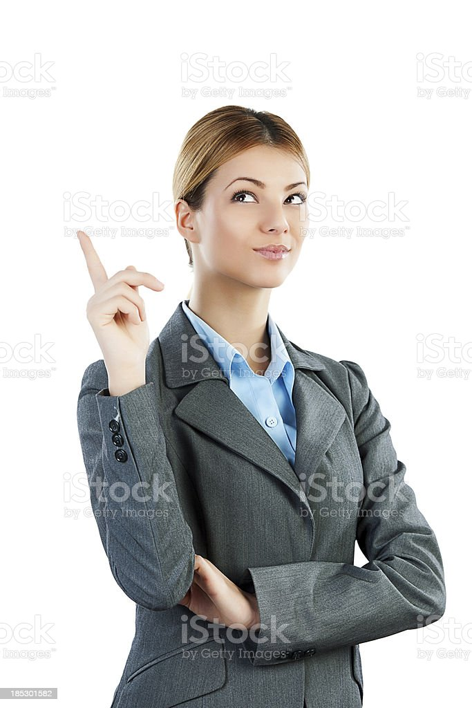Young business woman thinking. royalty-free stock photo