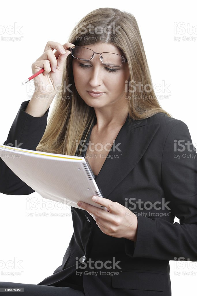Young Business Woman working royalty-free stock photo