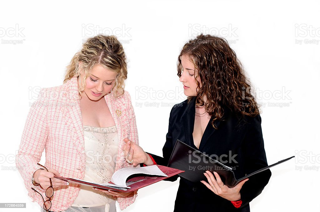 Young Business Women -Explanation royalty-free stock photo