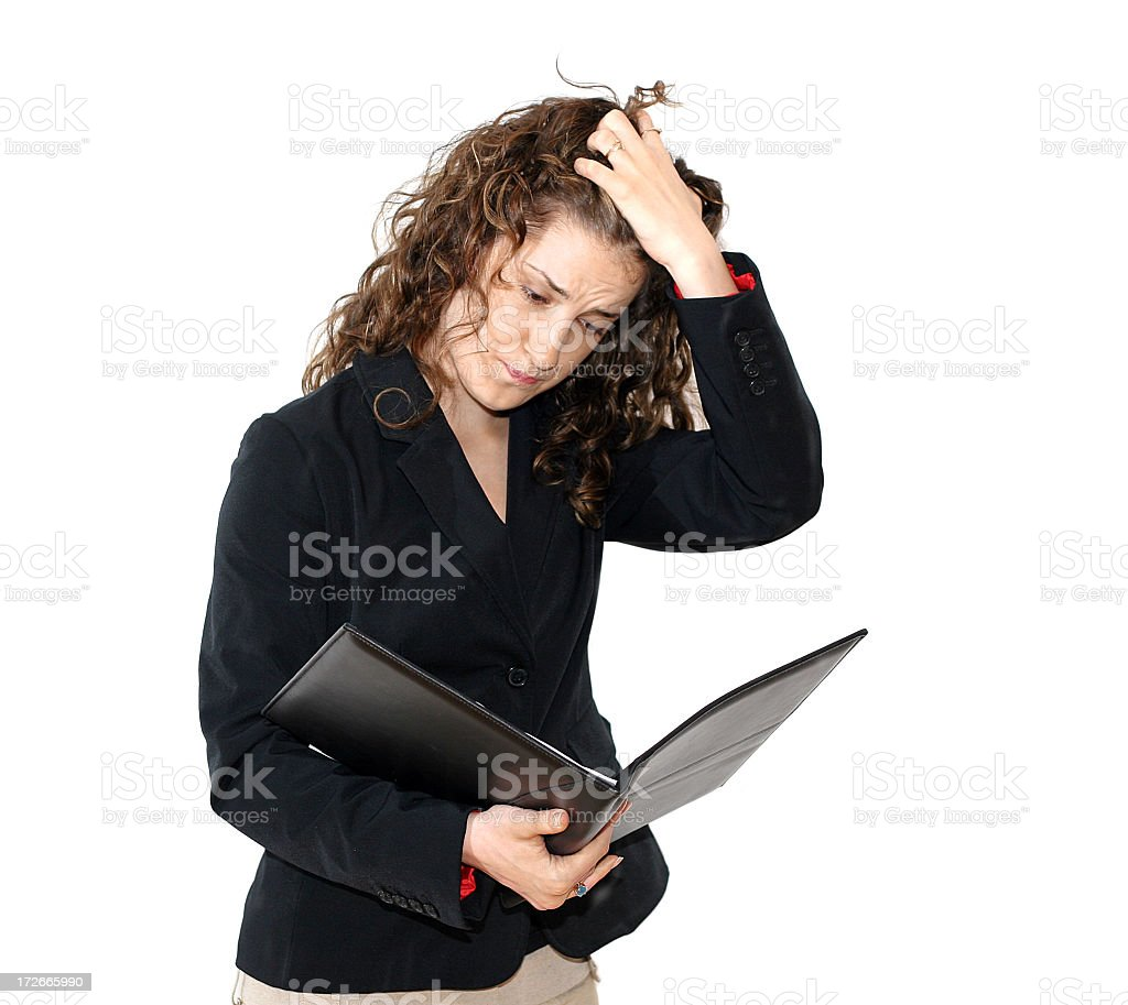 Young Business Women -Stressed royalty-free stock photo