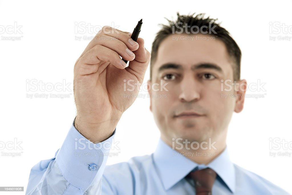 young businessman drawing royalty-free stock photo