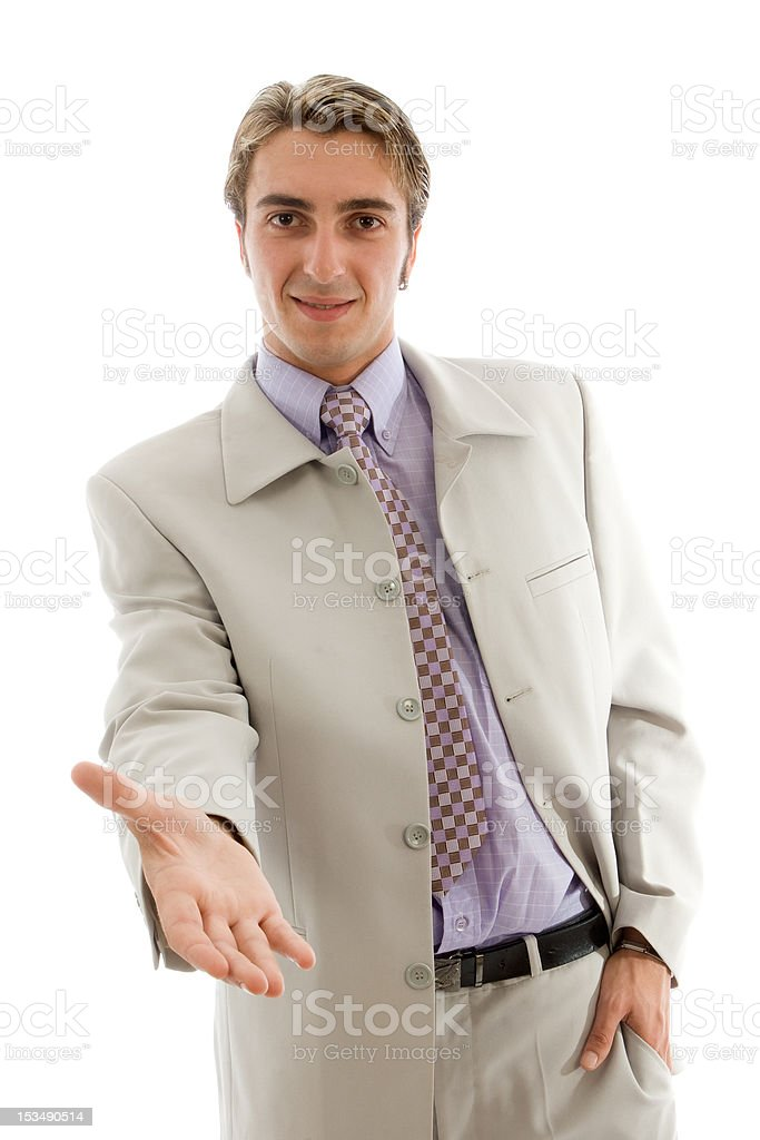 Young businessman handshake royalty-free stock photo