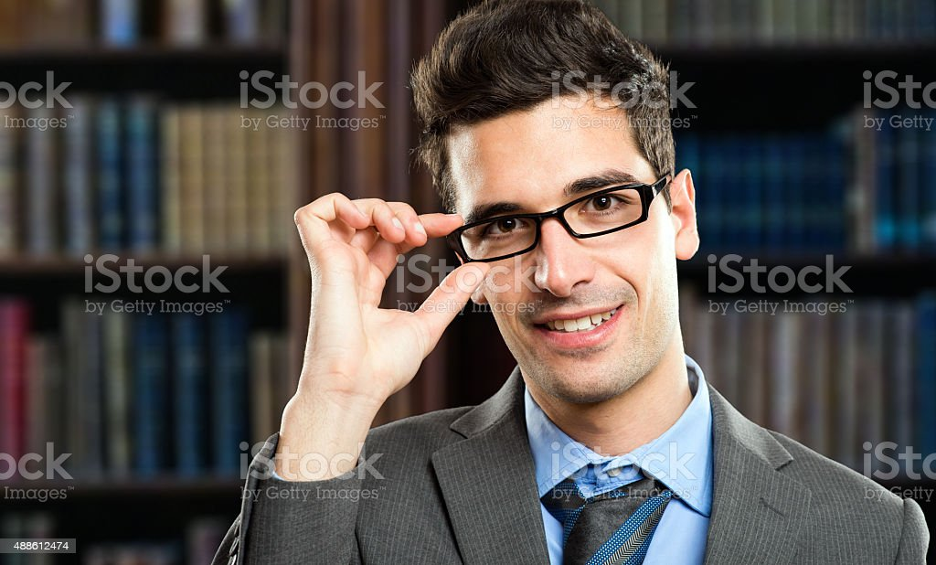 Young businessman in his studio stock photo