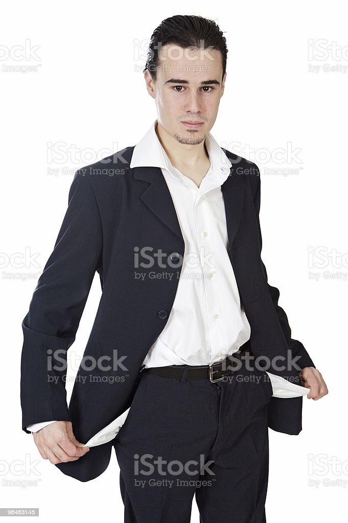 young businessman in the ruin royalty-free stock photo