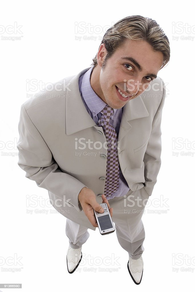 Young businessman is waiting for a call royalty-free stock photo